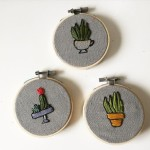 Teeny tiny little embroidered succulents by felixembroidery might be myhellip